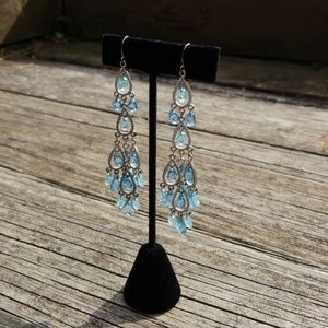 Jewelry - Statement turquoise blue Dangle earrings